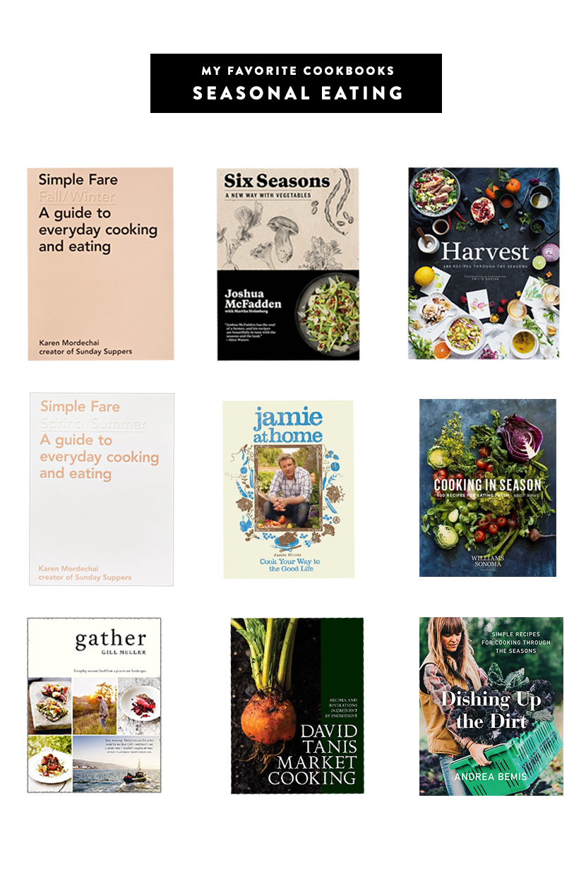 My favorite Seasonal Cookbooks for your Home to help you eat seasonally. Get the full list on The Fresh Exchange.
