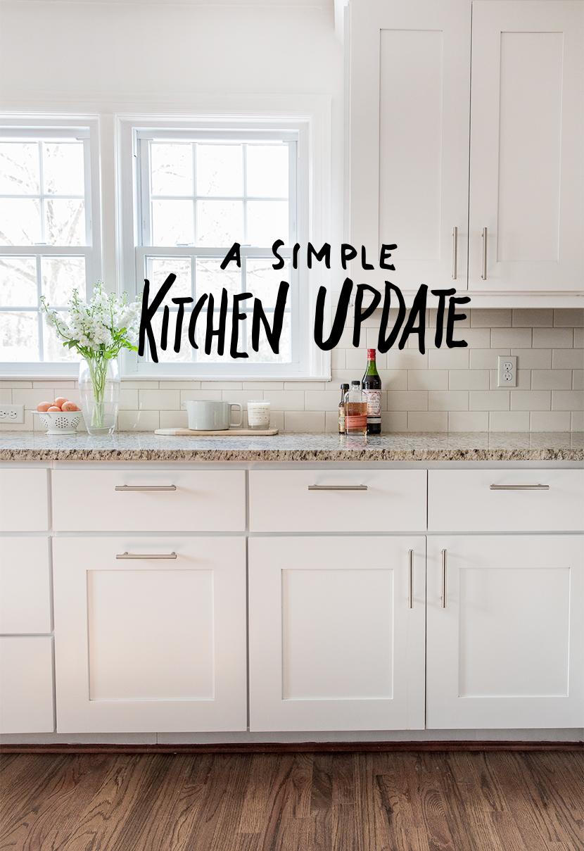 Kitchen Update with white modern cabinets