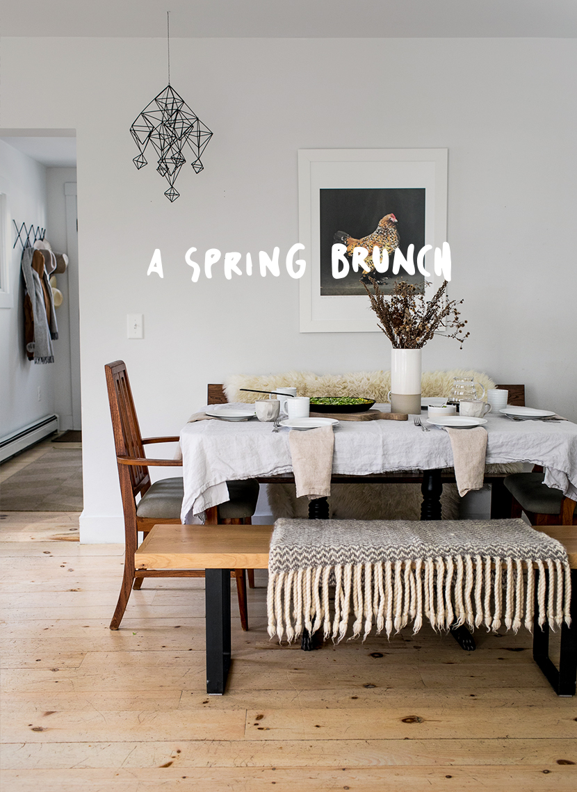 A Simple Evening: Spring Brunch Tablesetting made easy. Read more on The Fresh Exchange for easy and simple tips for how to create a simple brunch table with very little fuss this spring.