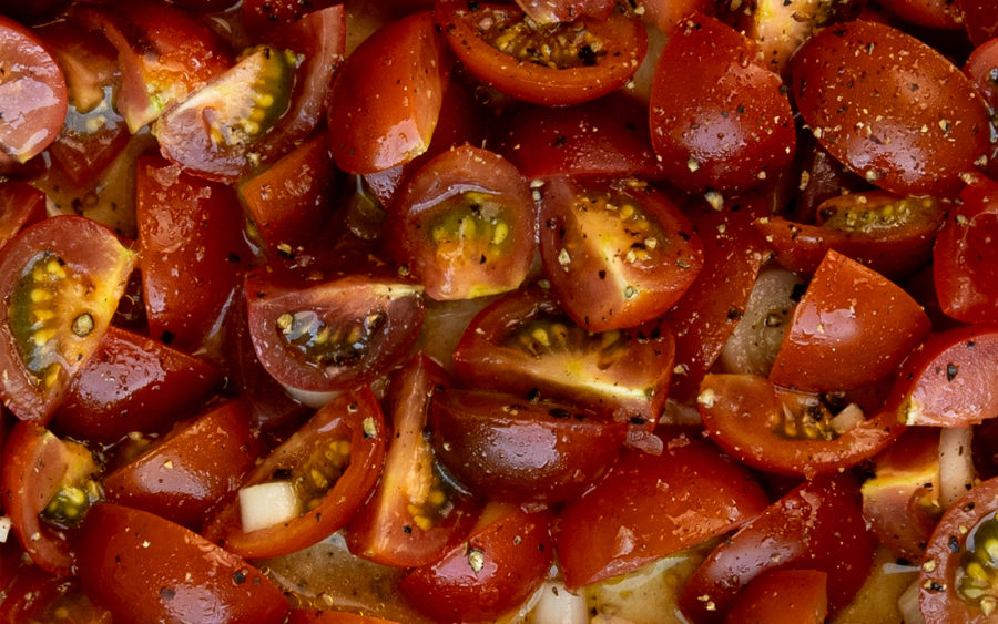 Simple Tomato Salad for Summer on The Fresh Exchange