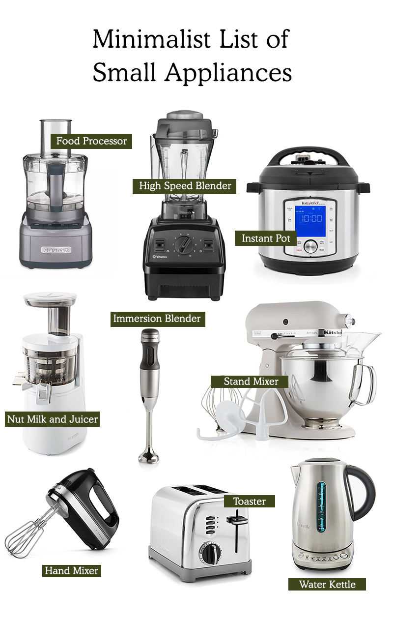 Minimalist Kitchen Essentials Small Appliances The Fresh Exchange