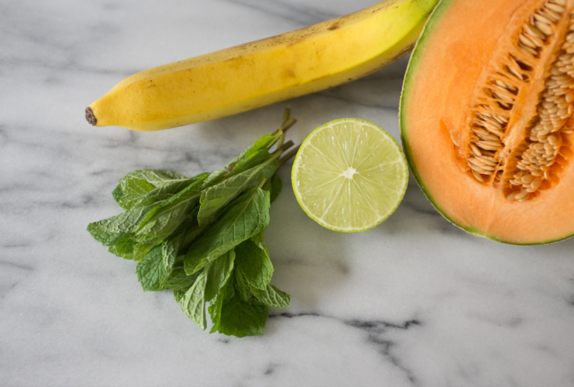 Smoothie Recipe: Cantaloupe and Mint  |  The Fresh Exchange
