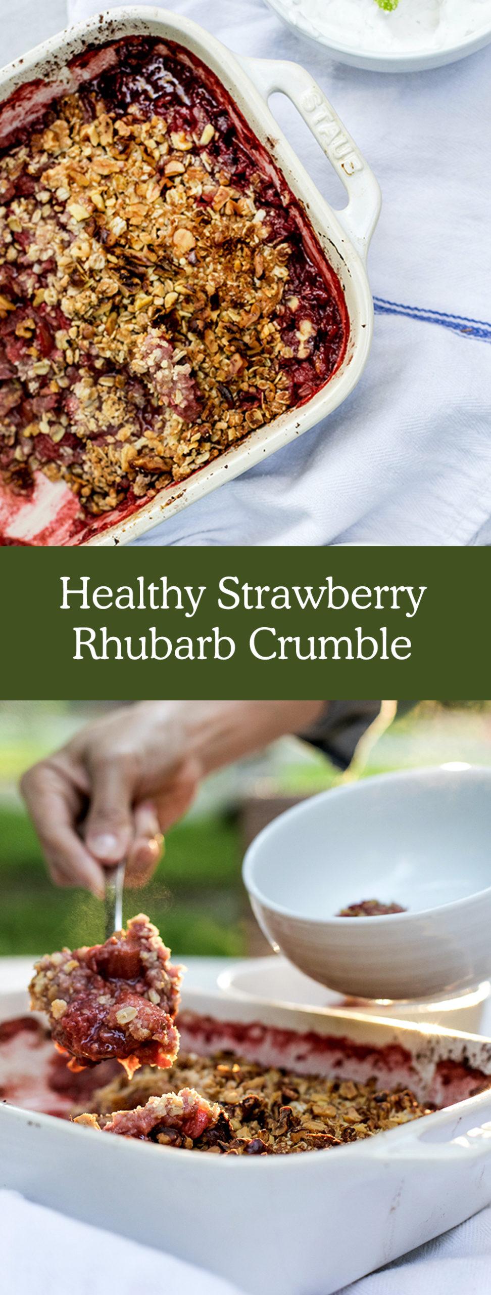 Healthy Strawberry Rhubarb Recipe for Summer - The Fresh Exchange