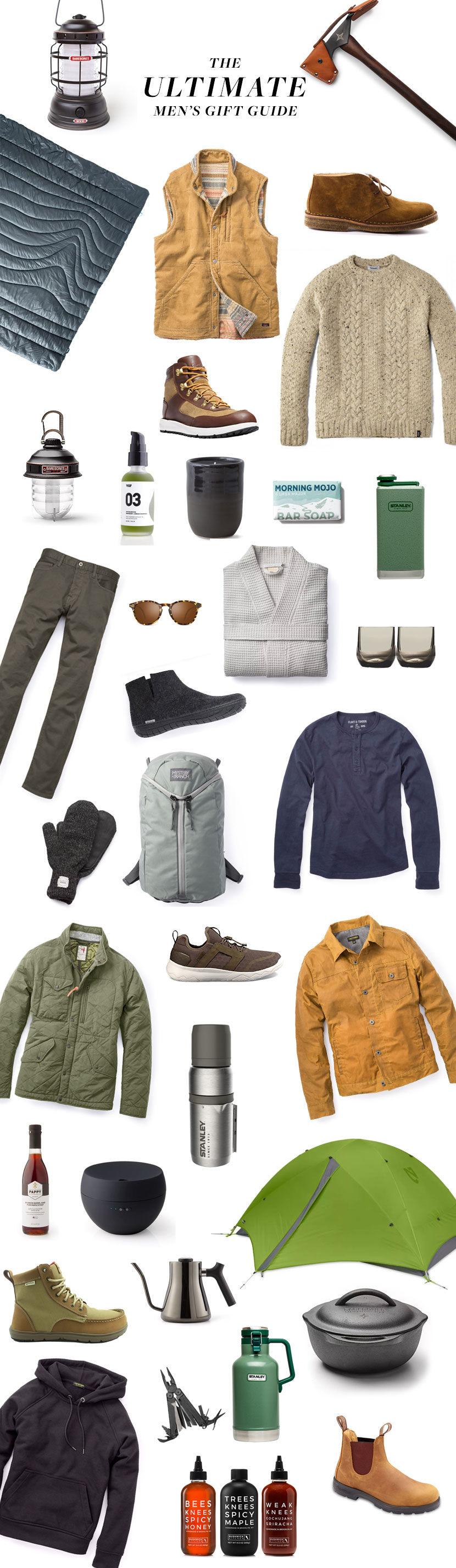 The Ultimate Men's Gift Guide in partnership with Huckberry. Focusing on quality and many American Made goods for gifts for any guy in your life.