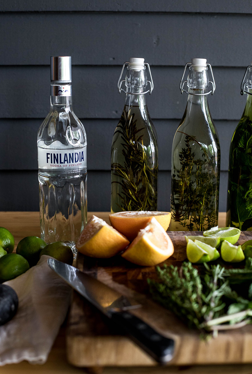 DIY Summer Cocktail Bar with Infused Vodka in partnership with Finlandia. Get the details and the recipes on The Fresh Exchange.