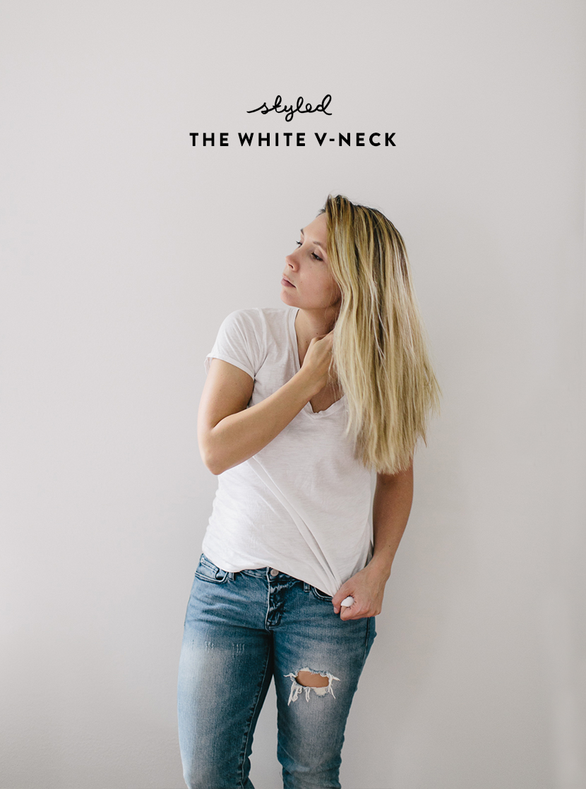 Styled: The White V-neck and it's Importance in life  |  The Fresh Exchange