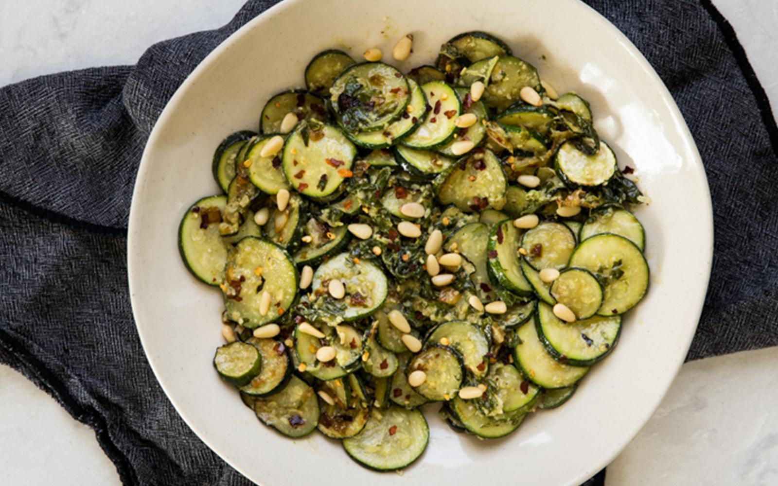 Pesto Zucchini Recipe - Vegan and Simple
