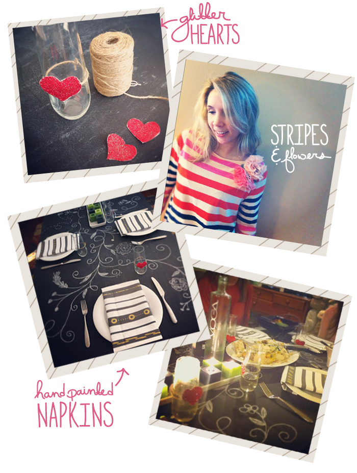 dinner, inspiration, stripes, velentines