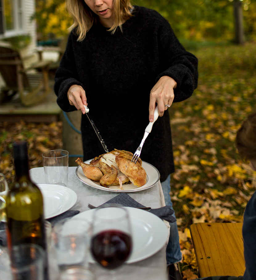 enjoy a simple fall gathering with friends and family before the outdoor weather disappears. See the most recent gathering on The Fresh Exchange for ideas for your thanksgiving.