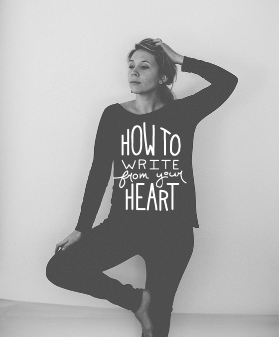 How to write form your heart  |  The Fresh Exchange