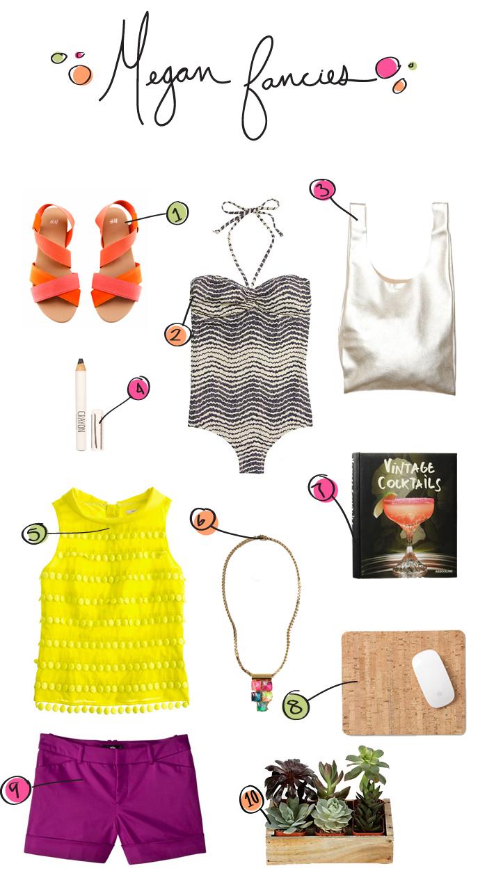 Megan Gilger, Shopping list