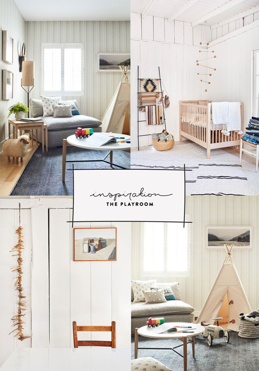 A Neutral and Family friendly Playroom in a minimal and warm design. See the Inspiration on The Fresh Exchange.