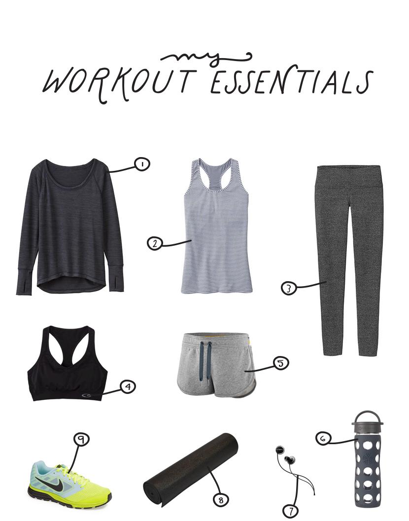My Workout Essentials  |  The Fresh Exchange